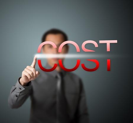 zakenman snijden kosten