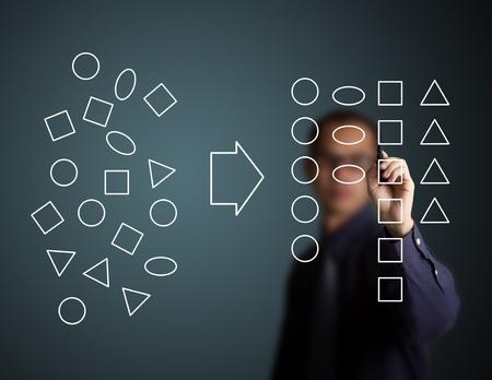 disordine: imprenditore categorizzare disegno geomtry