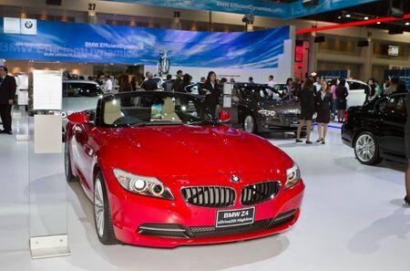 BANGKOK - DECEMBER 6: BMW Z4 sDrive20i car  on display at the 28th Thailand International Motor Expo exhebition on December 6, 2011 in Bangkok, Thailand.