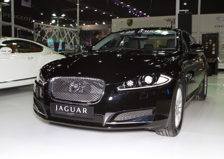 BANGKOK - APRIL 2: Jaguar XF car on display at the 33rd Bangkok International Motor Show on April 2, 2012 in Bangkok, Thailand. Stock Photo - 13244866