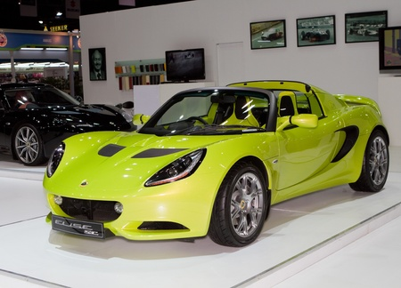 BANGKOK - APRIL 2: Lotus Exige super car on display at the 33rd Bangkok International Motor Show on April 2, 2012 in Bangkok, Thailand. Stock Photo - 13244867