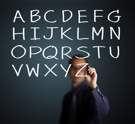 teacher writing english language capital letter A to Z Stock Photo - 14369932