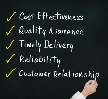 alto rendimiento: mano negocios completar la respuesta para producto de alto rendimiento y de la industria de servicios Foto de archivo