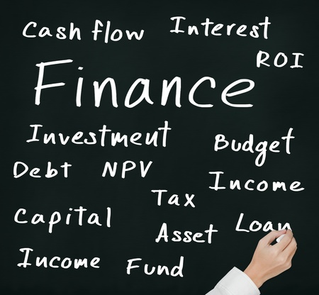 business hand writing finance concept photo