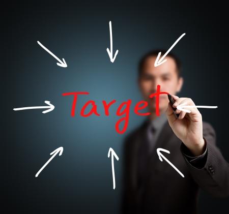 nesnel: iş adamı hedefe ulaşmak