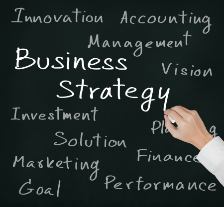 business hand writing business strategy concept Stock Photo - 15897471
