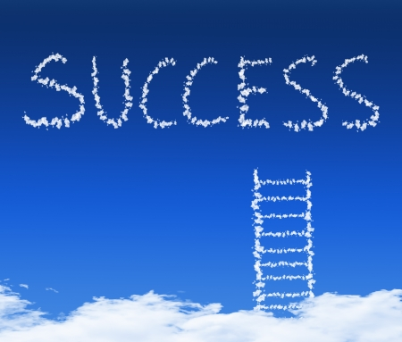 cloud stair, the way to success in blue sky Stock Photo - 15897465