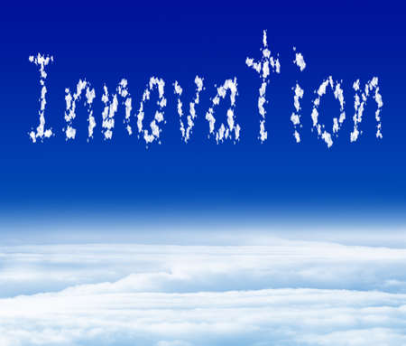 innovation on blue sky photo