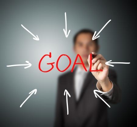 proposito: hombre de negocios Acceso meta
