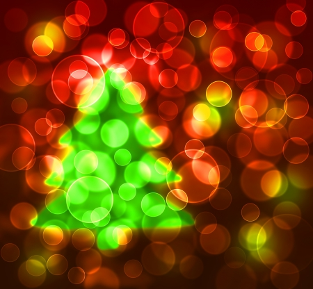 abstract light and christmas tree background Stock Photo - 16248076