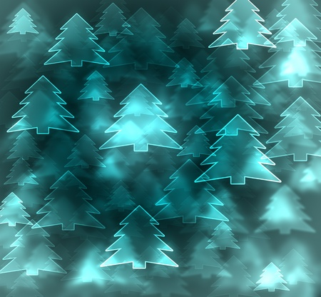 abstract blue christmas tree background Stock Photo - 16248085
