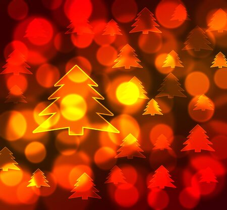 abstract gold christmas tree background Stock Photo - 16248086