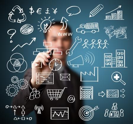 zakenman schrijven business management concept van