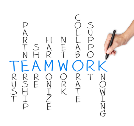 business hand writing teamwork concept crossword Stock Photo - 24862564