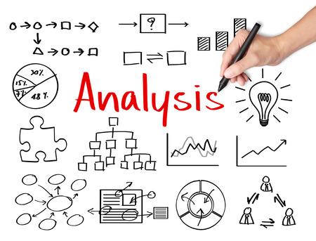 ビジネス手書きデータ分析 写真素材