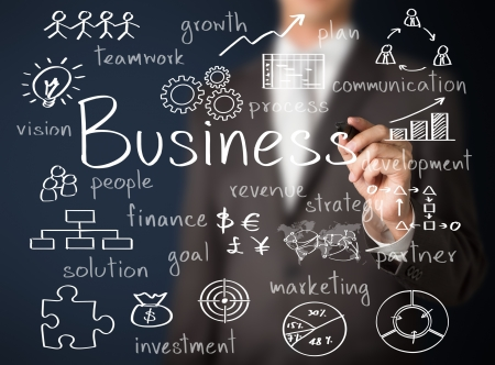 business man writing business concept Stock Photo - 24952041