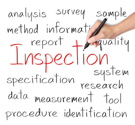 business hand writing inspection concept photo