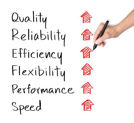 ビジネス手書きの信頼性、品質、効率、柔軟性、パフォーマンスとスピードの上昇