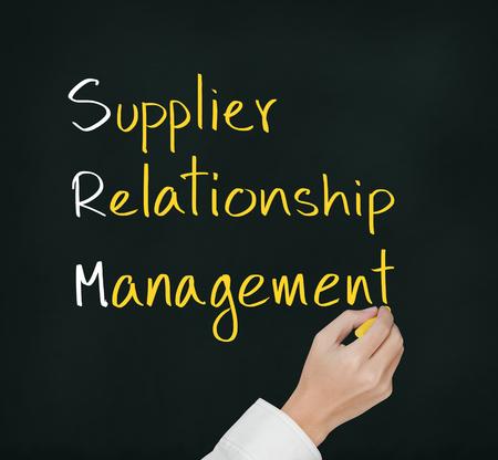 business hand: business hand writing supplier relationship management   srm