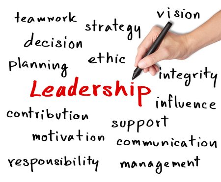 business hand writing leadership skill concept photo