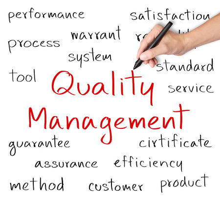 business hand writing quality management concept Stock Photo - 25072964