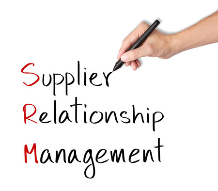 business hand writing supplier relationship management   srm