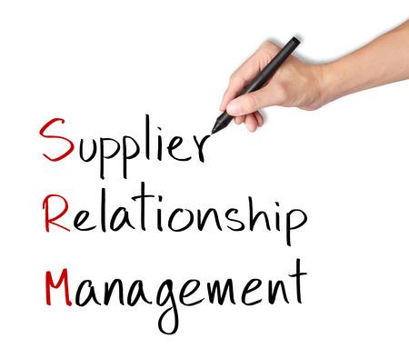 business hand writing supplier relationship management   srm