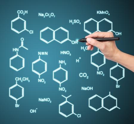 hand writing chemistry formula photo