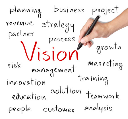 business hand writing concept of business vision photo