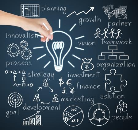 Idée d'entreprise de maintien de la main d'affaires Banque d'images - 25168406