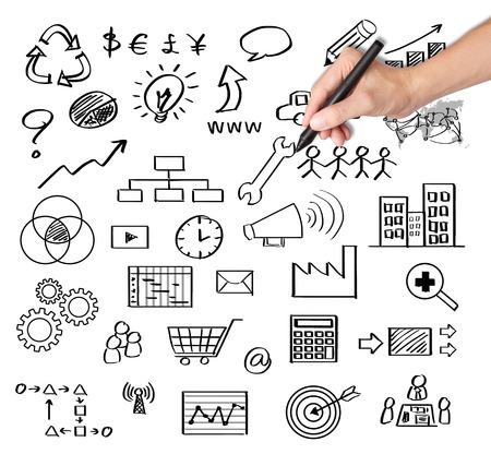 Concept de gestion de l'entreprise d'écriture de main d'affaires Banque d'images - 26052598