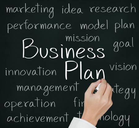 ビジネス手書きのビジネス計画の概念 写真素材