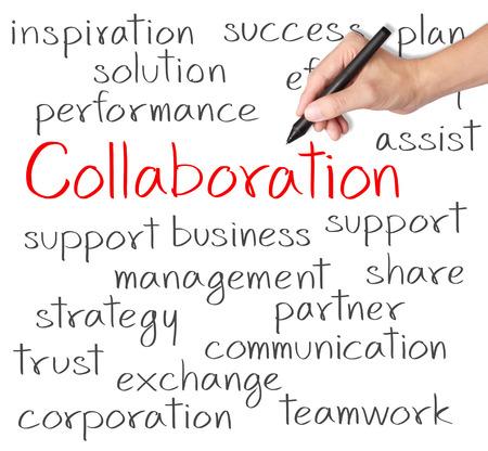 ビジネス手書きのコラボレーションの概念