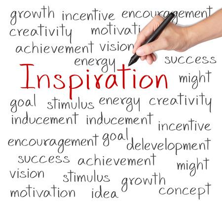 CRit de la main d'affaires concept de l'inspiration Banque d'images - 26052544
