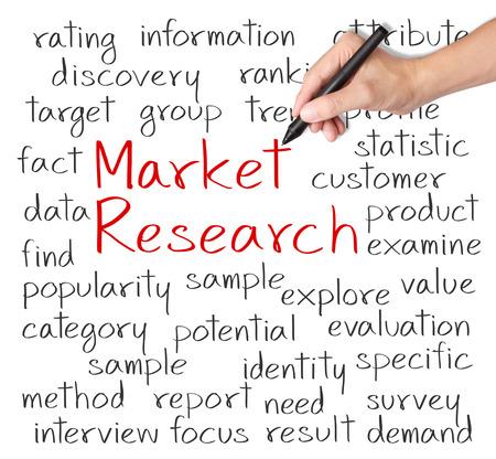 ビジネス手書きの市場研究の概念 写真素材