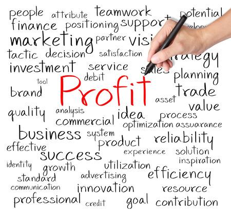 ビジネス手書きの利益概念