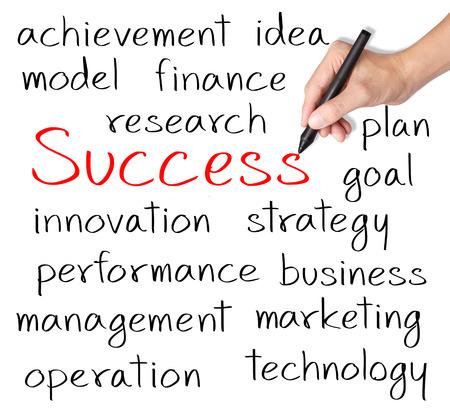 Main business success concept de l'écriture Banque d'images - 26051186