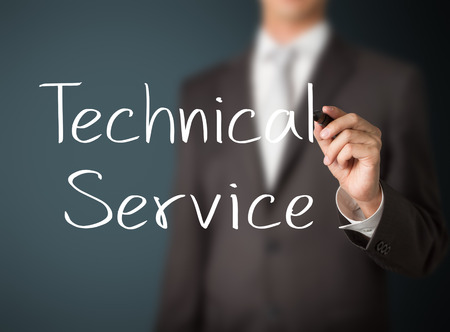 specialize: business man writing technical service