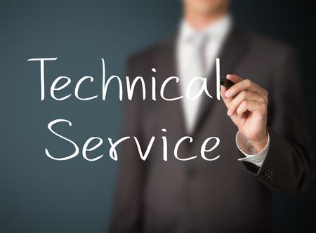 Homme d'affaires écrit service technique Banque d'images - 26052515