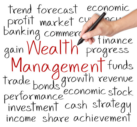 ビジネス手書きの富管理の概念 写真素材