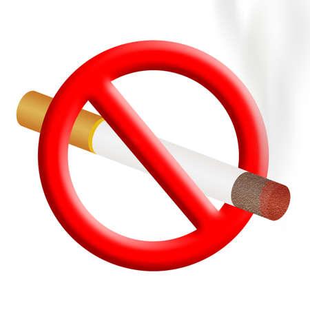no smoking sign isolated on a white background Фото со стока