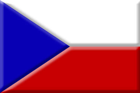 central europe: Flag of the Czech Republic. Central Europe.