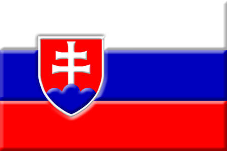 central europe: Flag of the Slovak Republic. Central Europe.