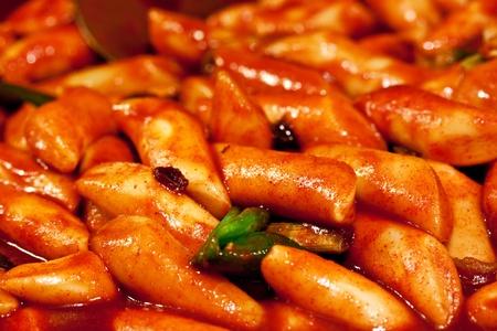korea food: Tteokbokki (korean traditional rice dish)