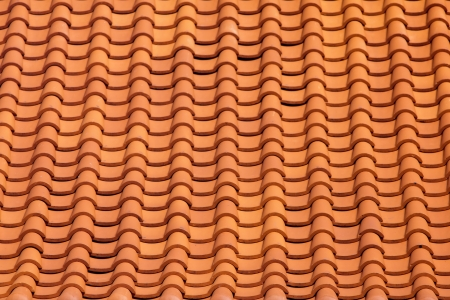 terracotta: Abstract roof tile pattern in sunny day