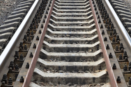 trave: Railway track with selected focus filling frame