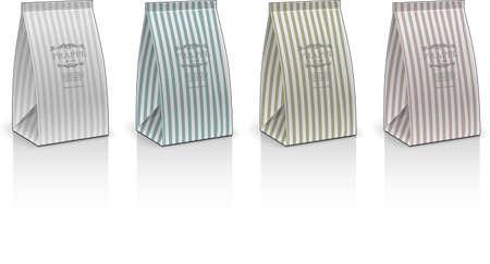 pouch: paperbag elegant concept vector