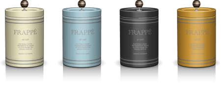mettalic: mettalic cylinder elegant packaging