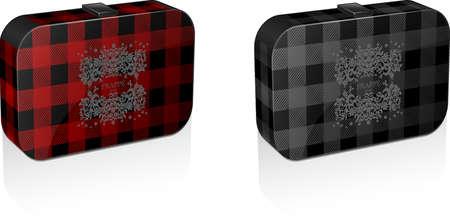 plaid case packaging Фото со стока - 66067823