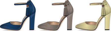 womens modern shoes high heel set Illusztráció